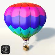 Hot air baloon low poly 3d model