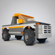 Low Poly Pick Up Truck 3d model