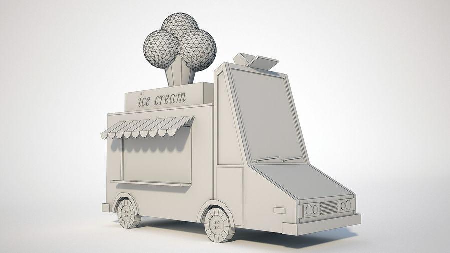 冰淇淋卡车 royalty-free 3d model - Preview no. 6