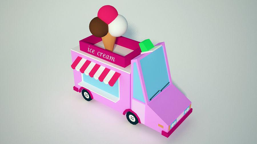 冰淇淋卡车 royalty-free 3d model - Preview no. 3
