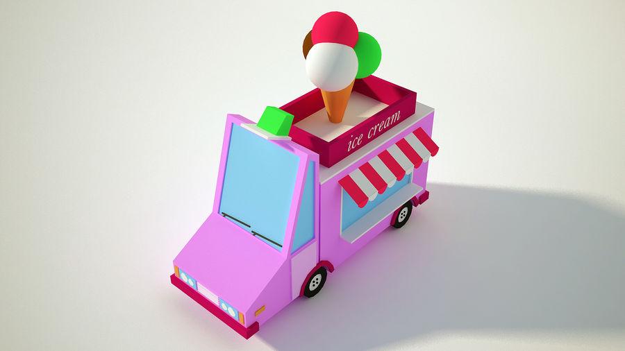 冰淇淋卡车 royalty-free 3d model - Preview no. 4