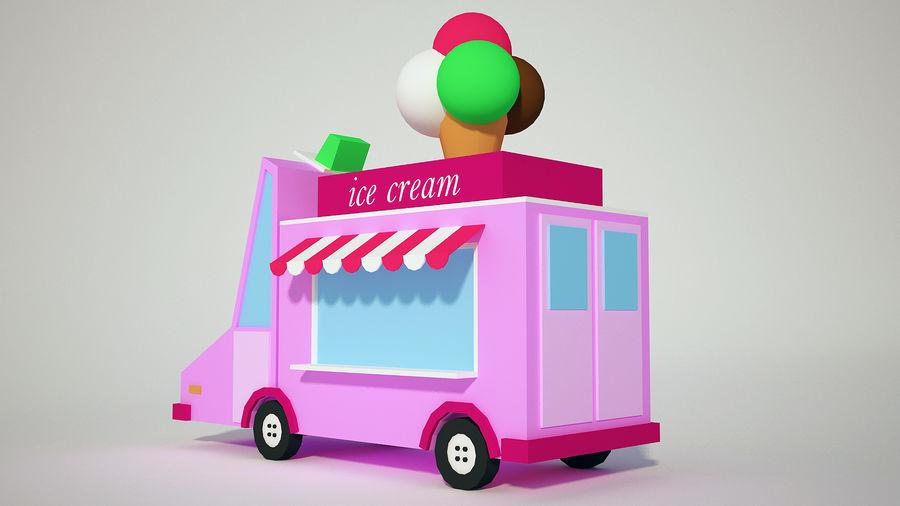 冰淇淋卡车 royalty-free 3d model - Preview no. 5
