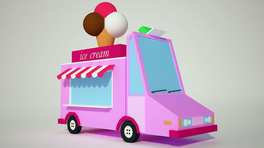 冰淇淋卡车 royalty-free 3d model - Preview no. 2