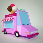 冰淇淋卡车 3d model