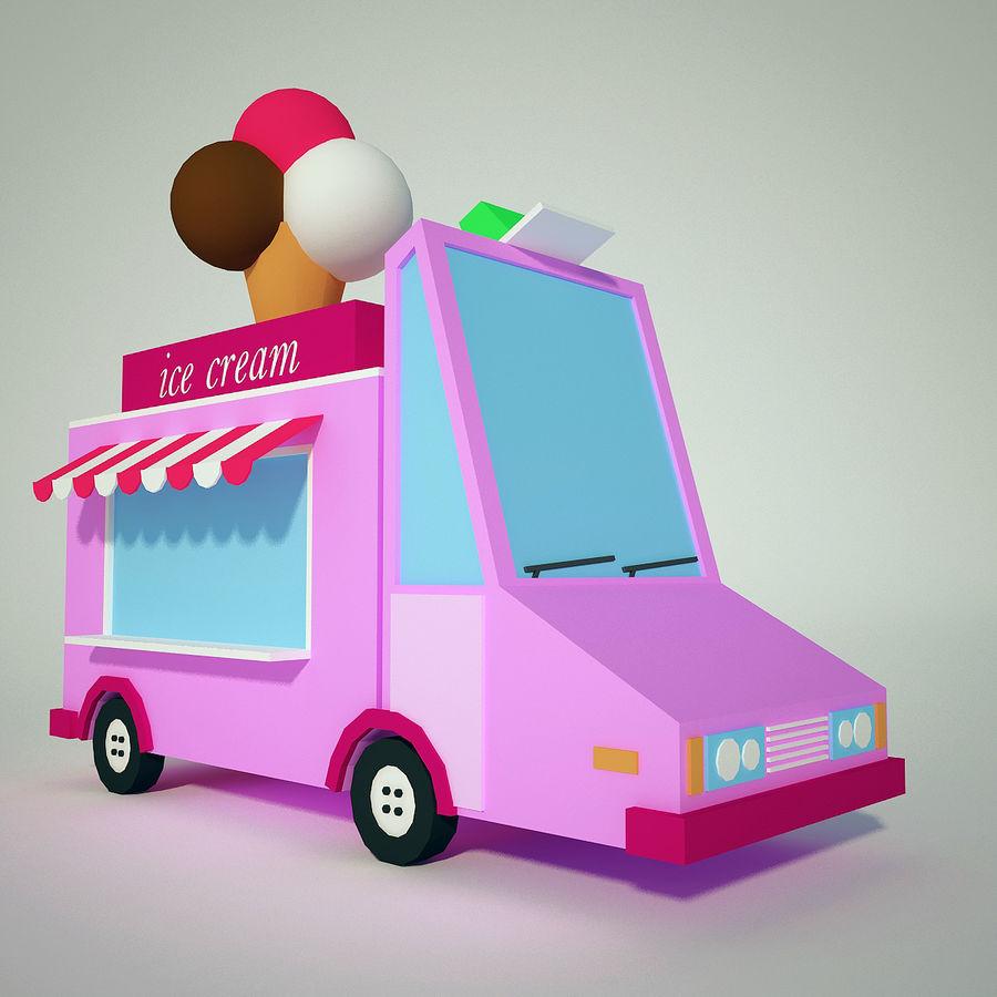 冰淇淋卡车 royalty-free 3d model - Preview no. 1