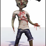 Zombie Cartoon 3d model