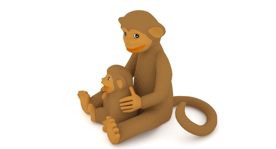 Macaco royalty-free 3d model - Preview no. 7