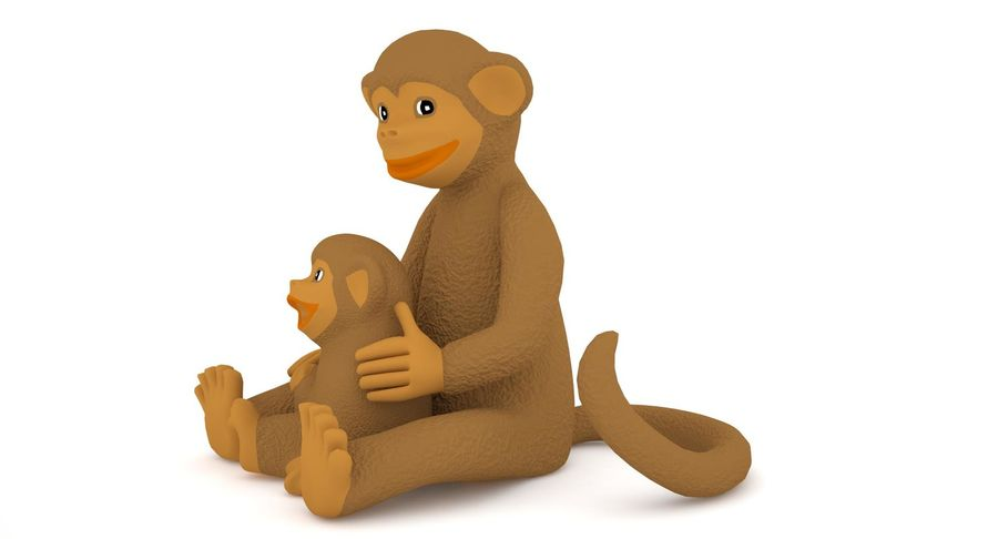 Macaco royalty-free 3d model - Preview no. 4