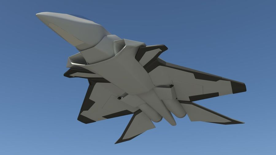 Jet Concept Aircraft royalty-free 3d model - Preview no. 5