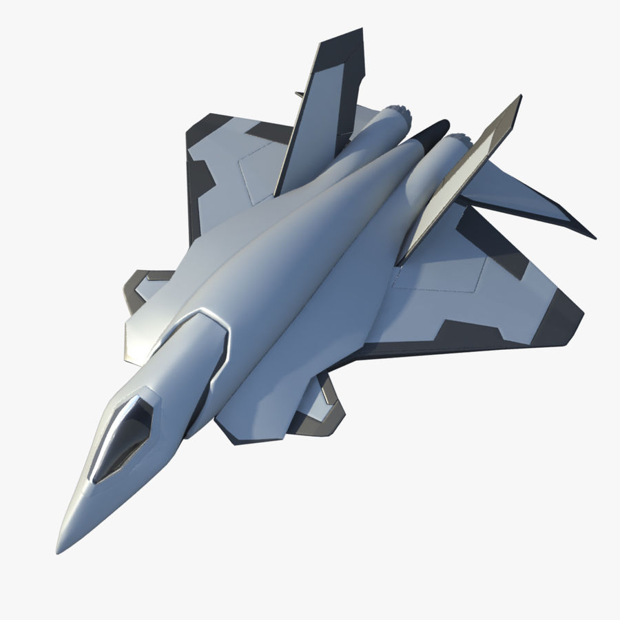 Jet Concept Aircraft royalty-free 3d model - Preview no. 1