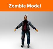 personnage zombie 3d model