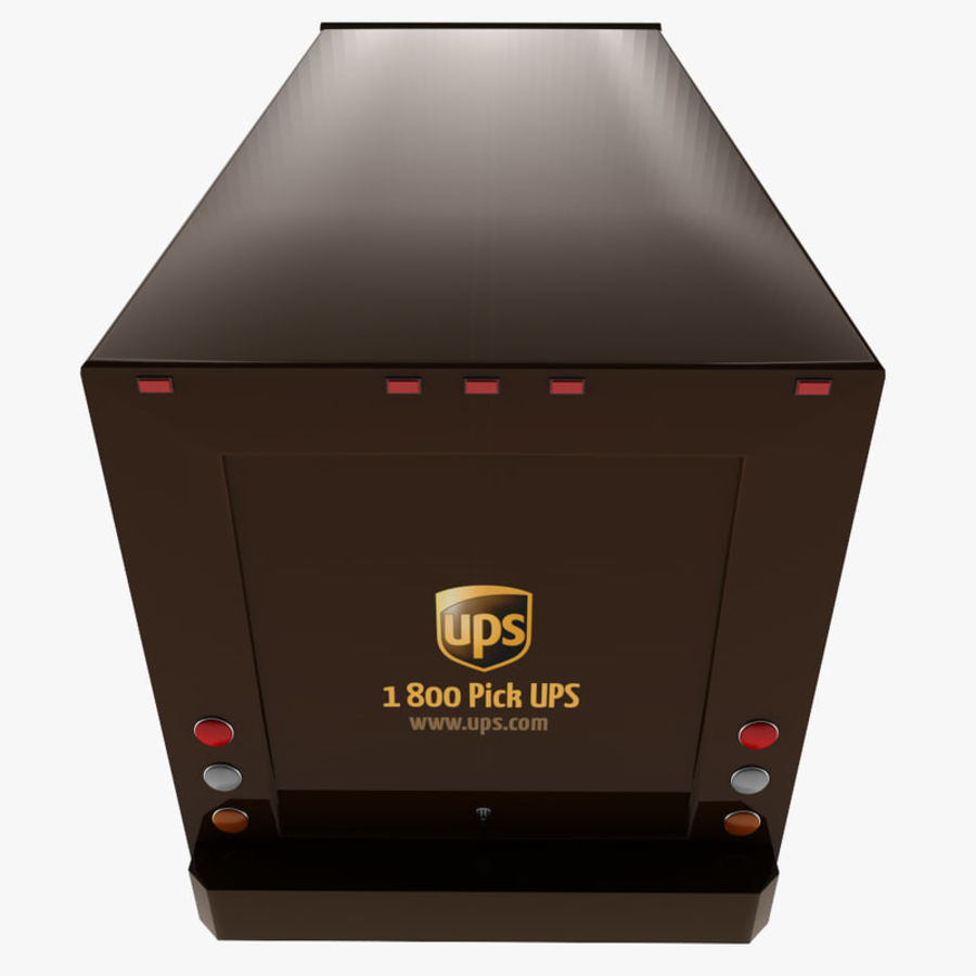 UPS Truck royalty-free 3d model - Preview no. 9