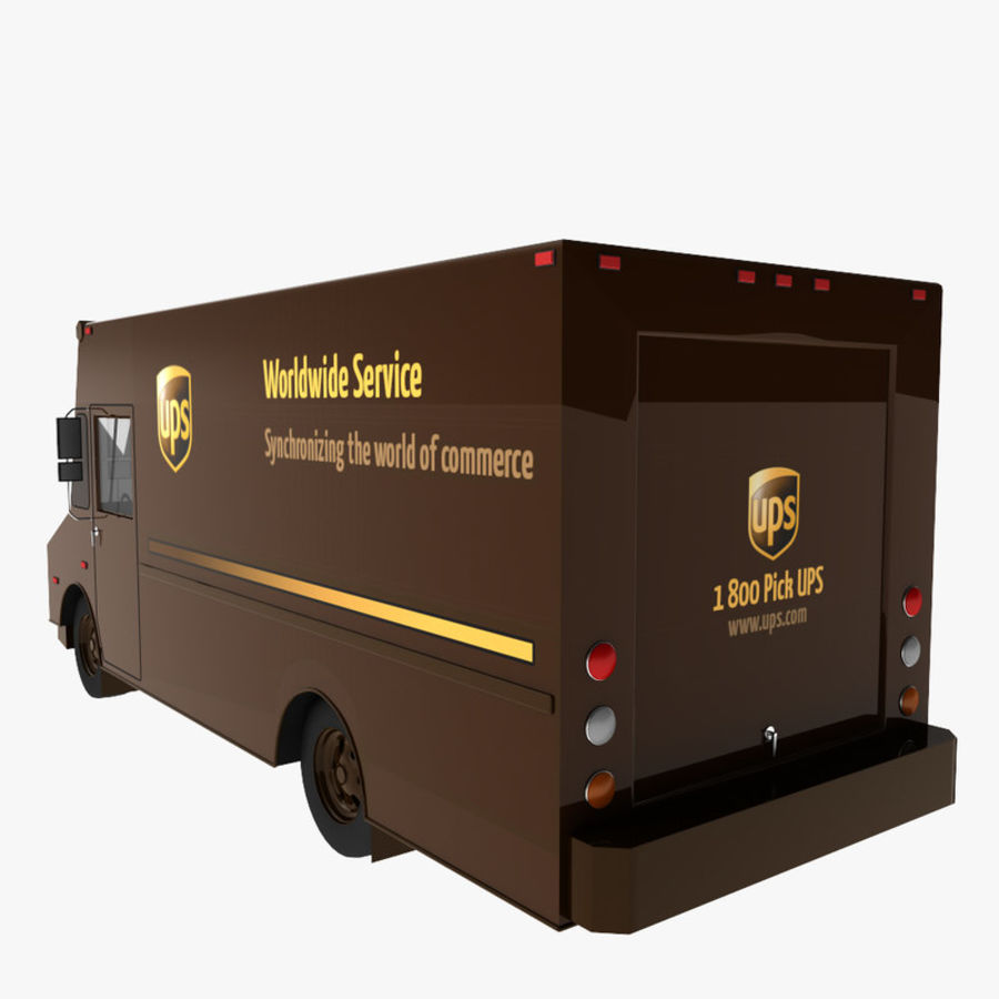 UPS Truck royalty-free 3d model - Preview no. 4