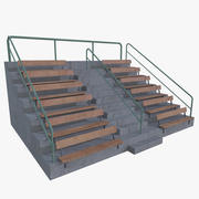 Bleachers four subdivision 3d model