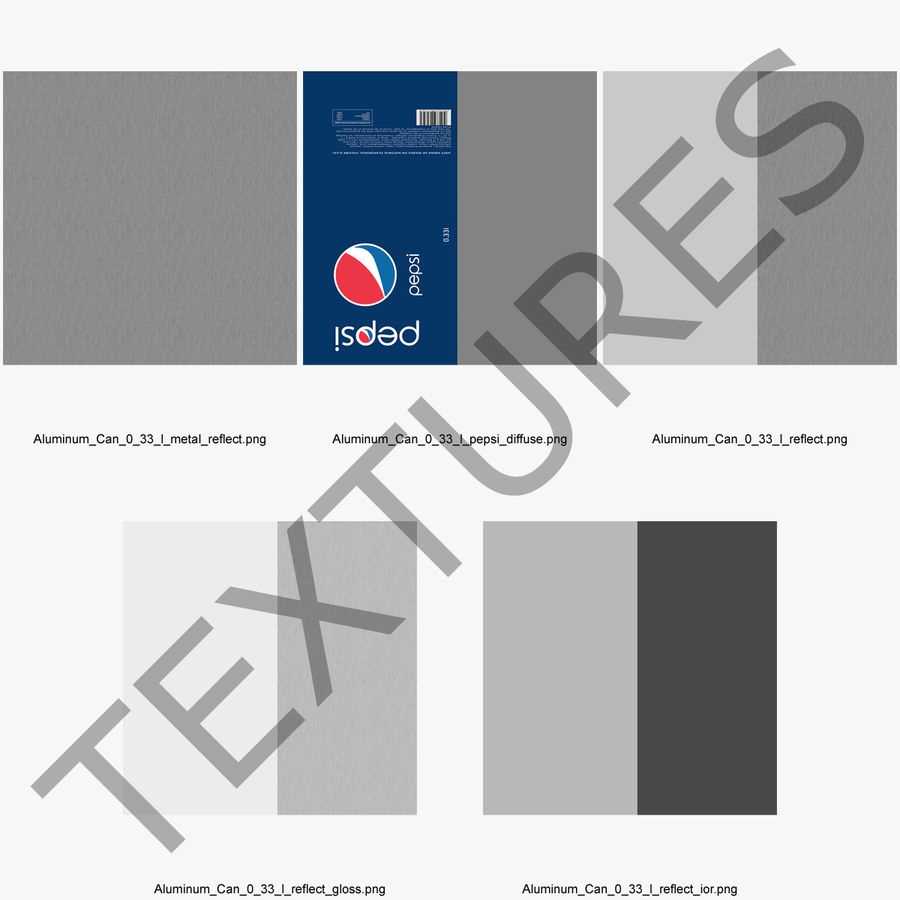 Six pack de canettes Pepsi royalty-free 3d model - Preview no. 19