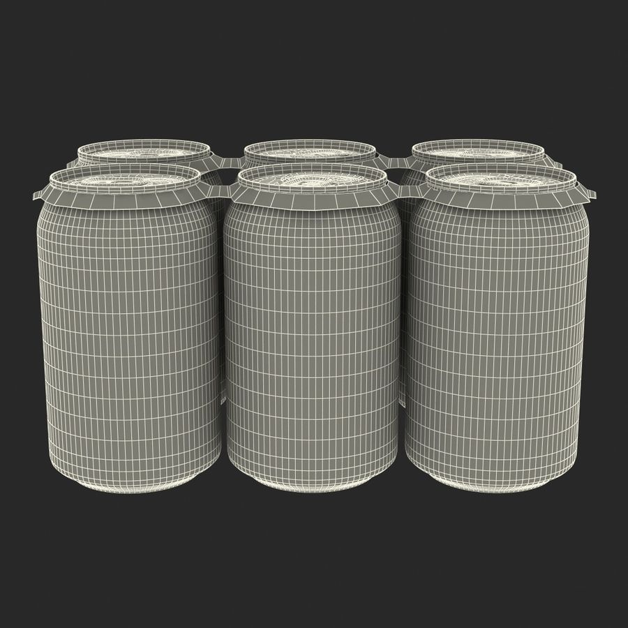 Six pack de canettes Pepsi royalty-free 3d model - Preview no. 21