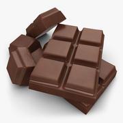 カットチョコレートバー(ミルク) 3d model