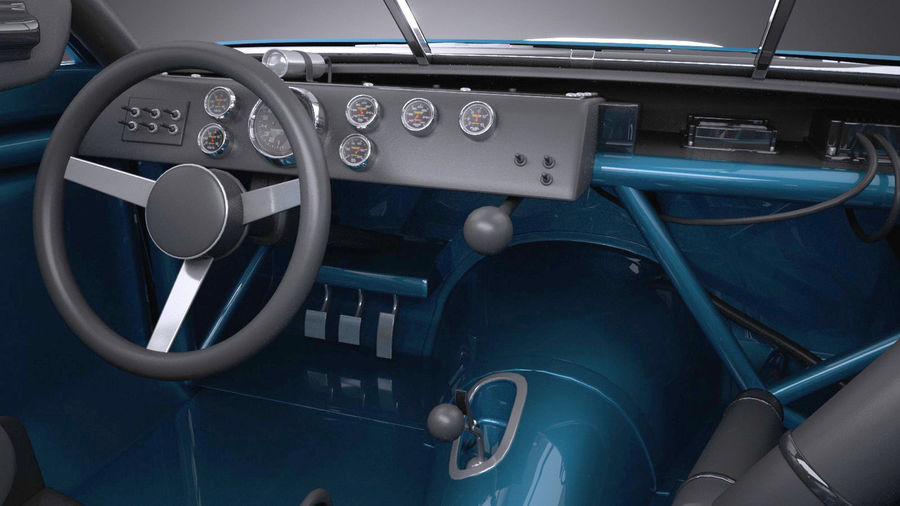 Plymouth Roadrunner NASCAR Ричард Петти 1971 royalty-free 3d model - Preview no. 10