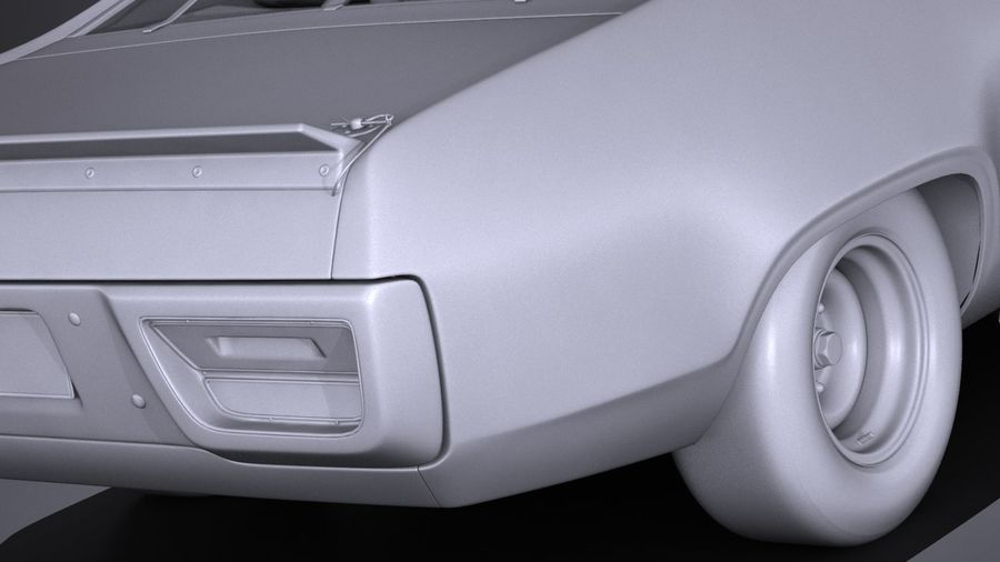 Plymouth Roadrunner NASCAR Ричард Петти 1971 royalty-free 3d model - Preview no. 14