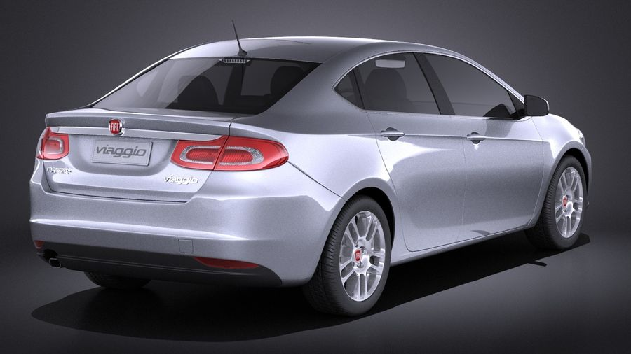 Fiat Viaggio 2015 royalty-free 3d model - Preview no. 6