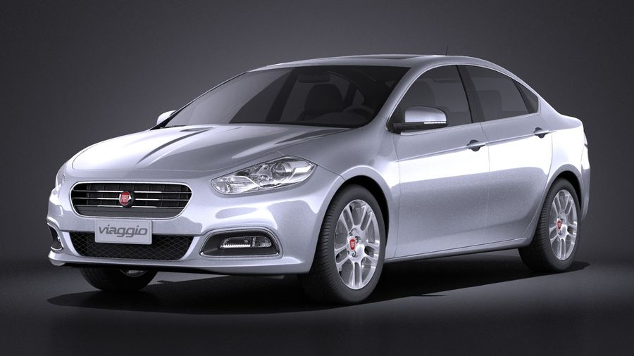Fiat Viaggio 2015 royalty-free 3d model - Preview no. 1