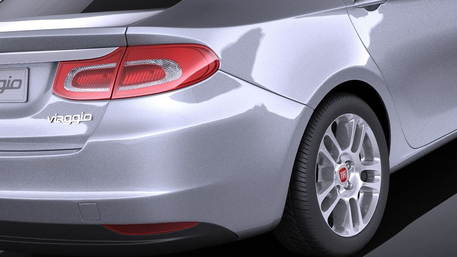 Fiat Viaggio 2015 royalty-free 3d model - Preview no. 4