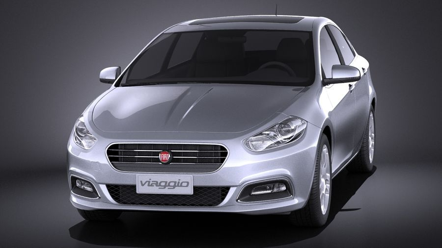 Fiat Viaggio 2015 royalty-free 3d model - Preview no. 2