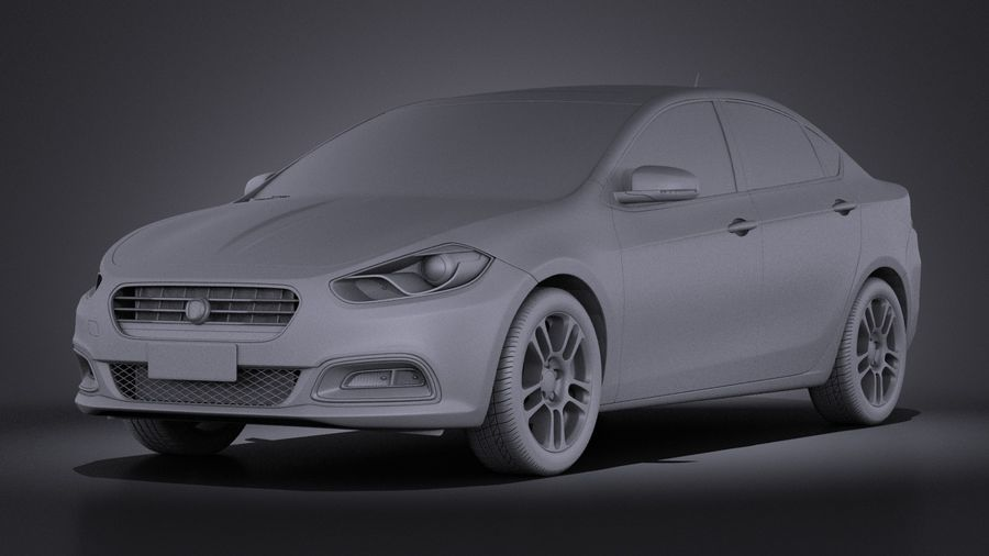 Fiat Viaggio 2015 royalty-free 3d model - Preview no. 9