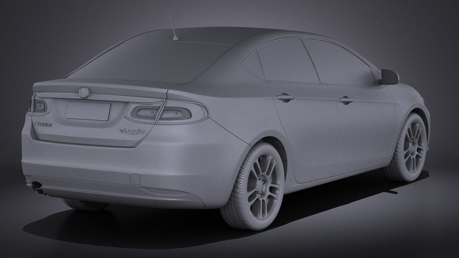 Fiat Viaggio 2015 royalty-free 3d model - Preview no. 12