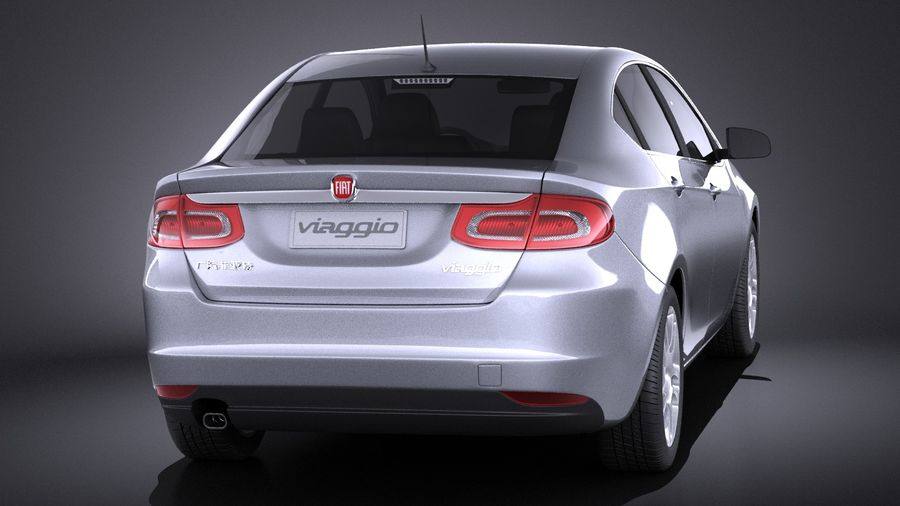 Fiat Viaggio 2015 royalty-free 3d model - Preview no. 5