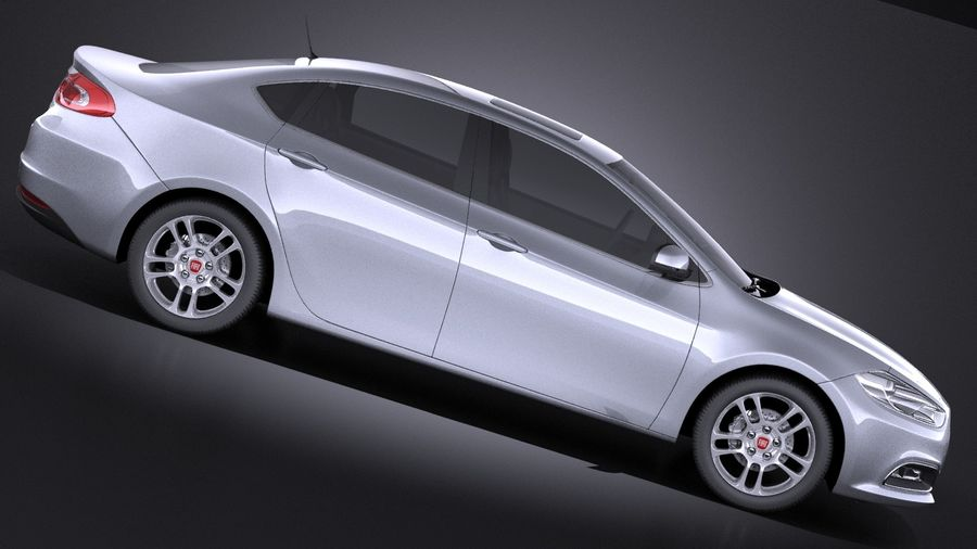 Fiat Viaggio 2015 royalty-free 3d model - Preview no. 7