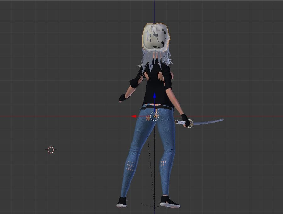 Mari the Samurai royalty-free 3d model - Preview no. 6