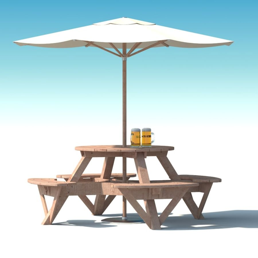 Garden Furniture Exterior Picnic Deck Table In Grey Wood With - Picnic table parasol