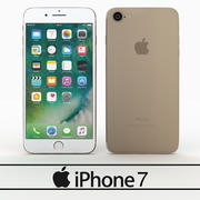 Apple Iphone 7 Gold 3d model