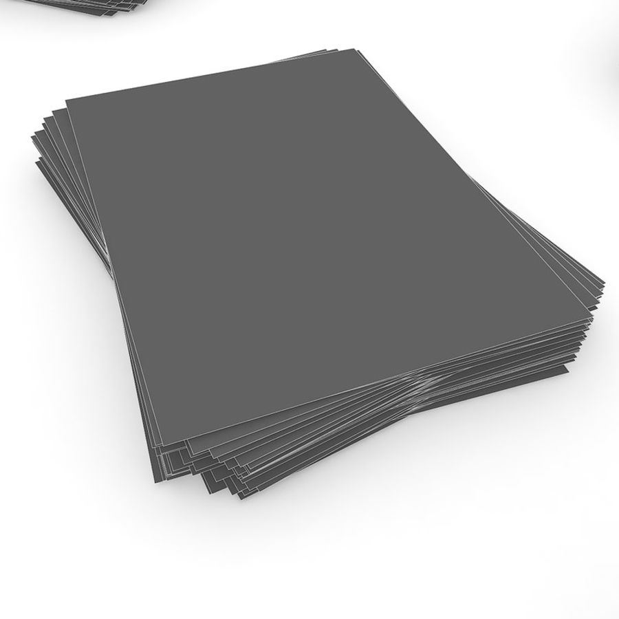 Simple office Document Stack royalty-free 3d model - Preview no. 21