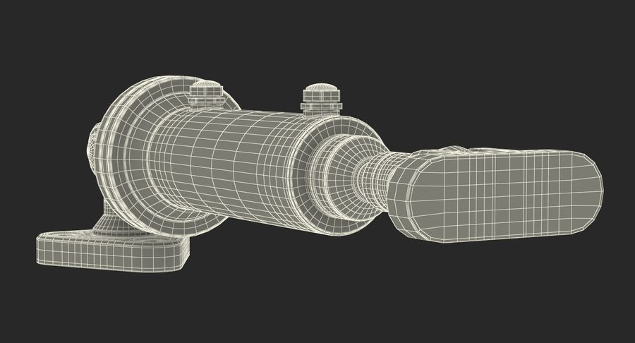 Anodowany cylinder hydrauliczny 2 royalty-free 3d model - Preview no. 18