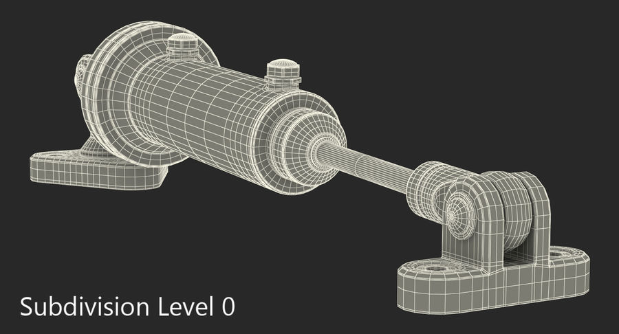 Anodowany cylinder hydrauliczny 2 royalty-free 3d model - Preview no. 11