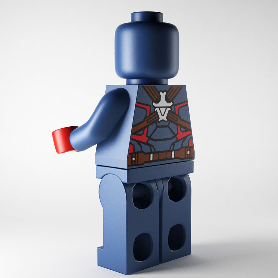 Captain America royalty-free 3d model - Preview no. 3