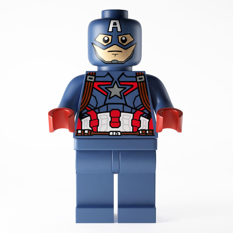 Captain America royalty-free 3d model - Preview no. 1