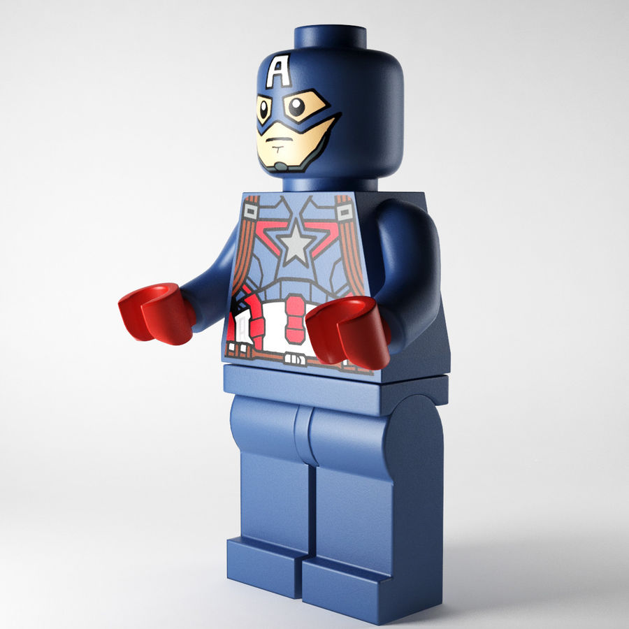 Captain America royalty-free 3d model - Preview no. 2