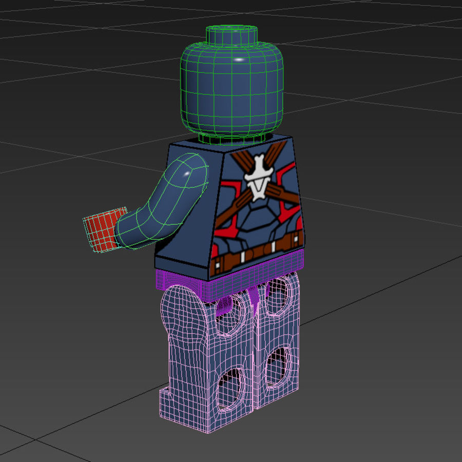 Captain America royalty-free 3d model - Preview no. 5