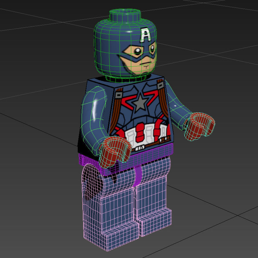Captain America royalty-free 3d model - Preview no. 6