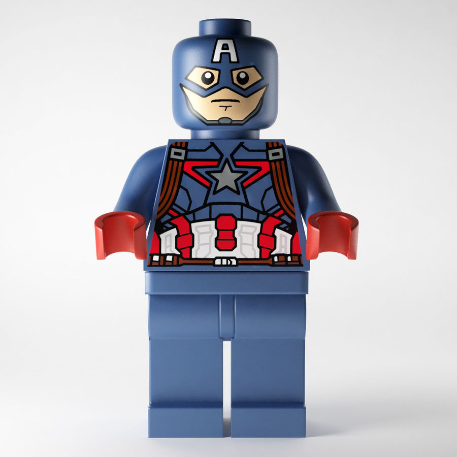Captain America royalty-free 3d model - Preview no. 4