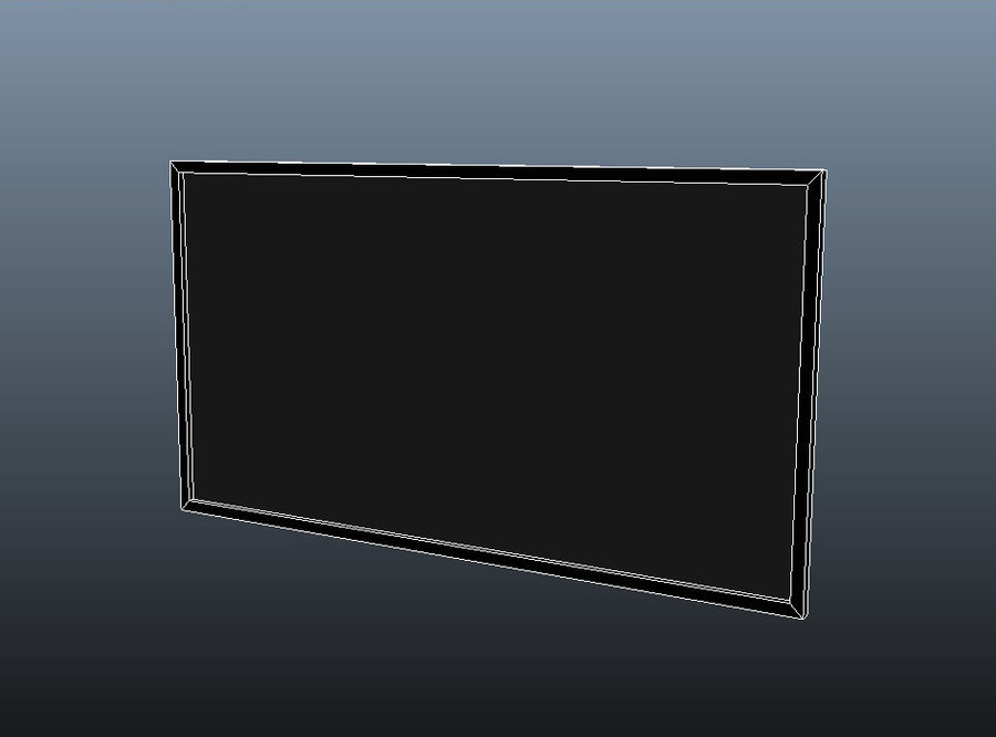 Flat Screen TV royalty-free 3d model - Preview no. 5