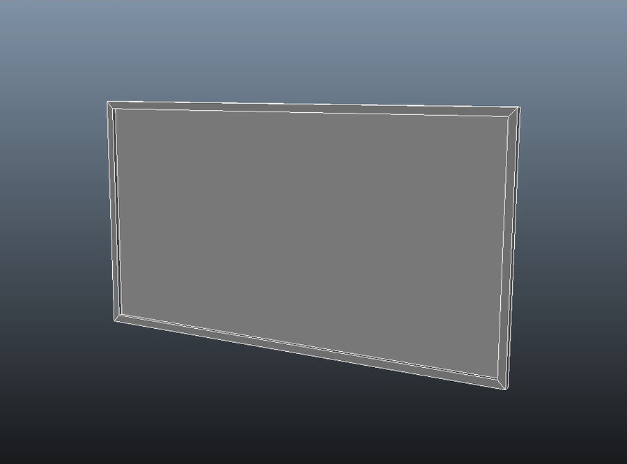 Flat Screen TV royalty-free 3d model - Preview no. 6