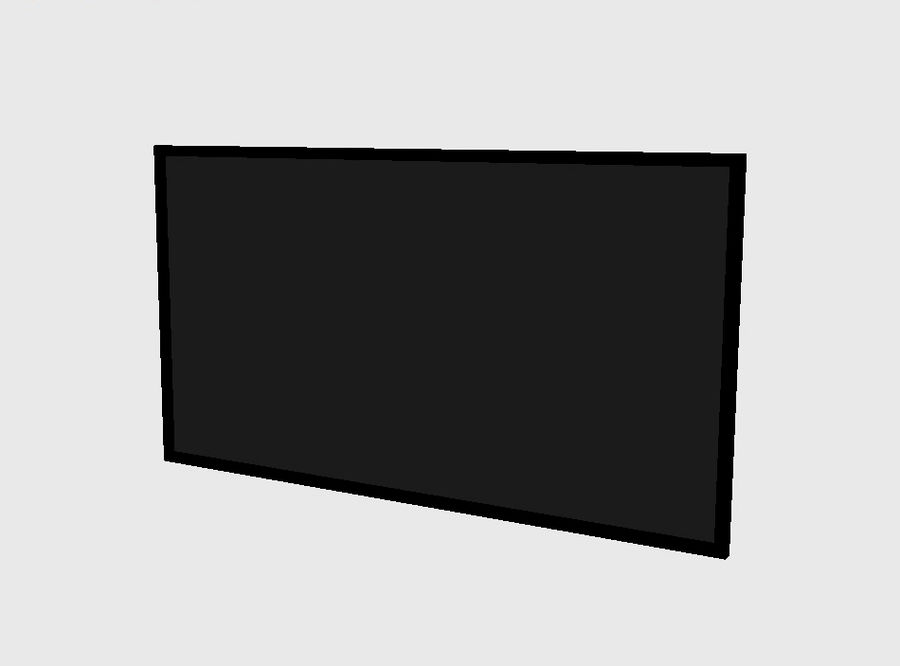 Flat Screen TV royalty-free 3d model - Preview no. 3