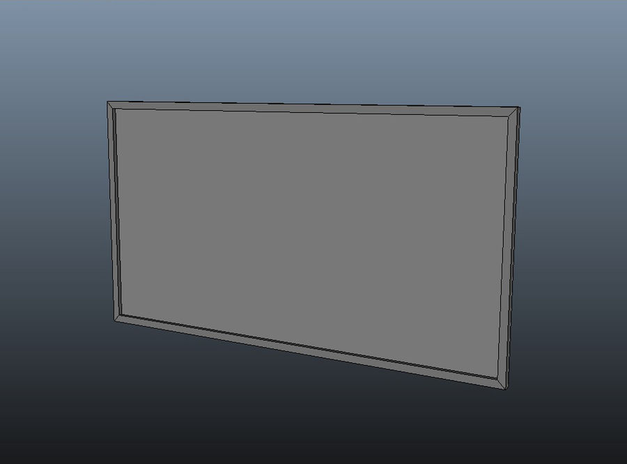 Flat Screen TV royalty-free 3d model - Preview no. 7