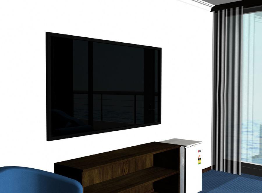 Télévision à écran plat royalty-free 3d model - Preview no. 2