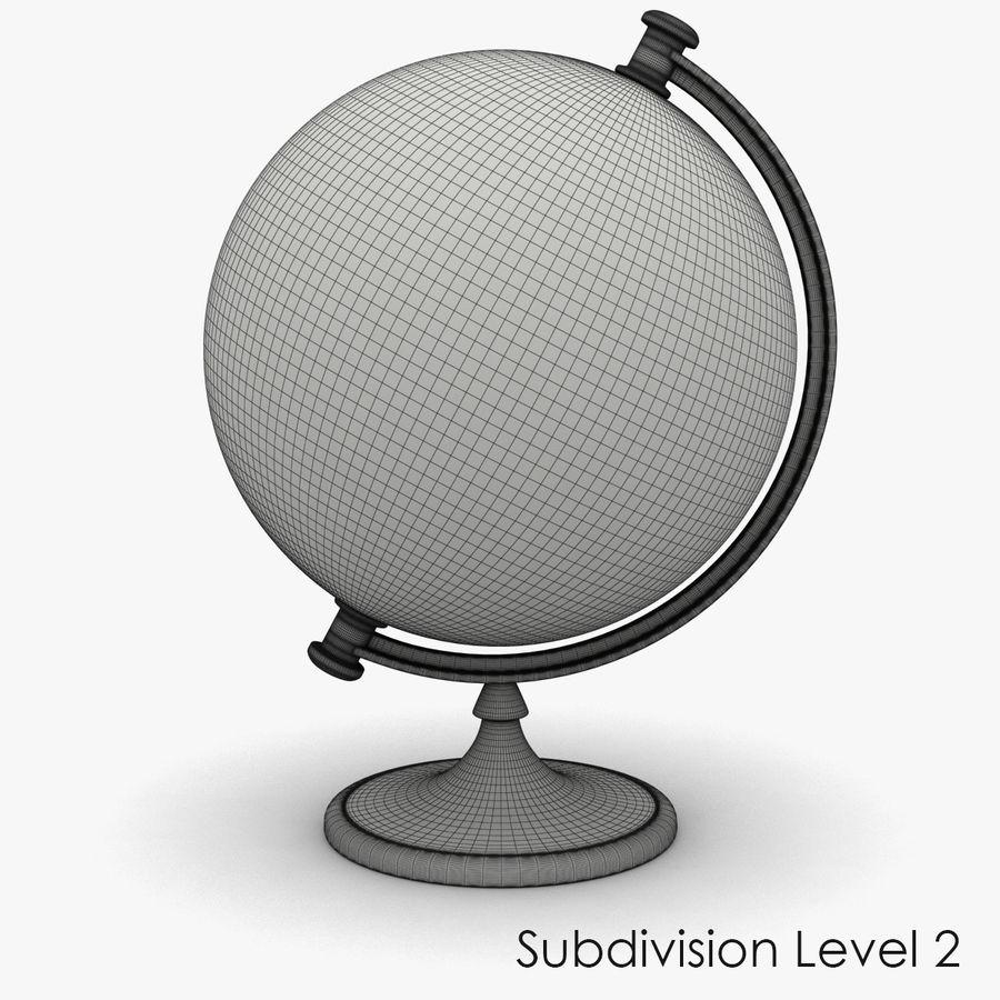 Rotating globe royalty-free 3d model - Preview no. 12