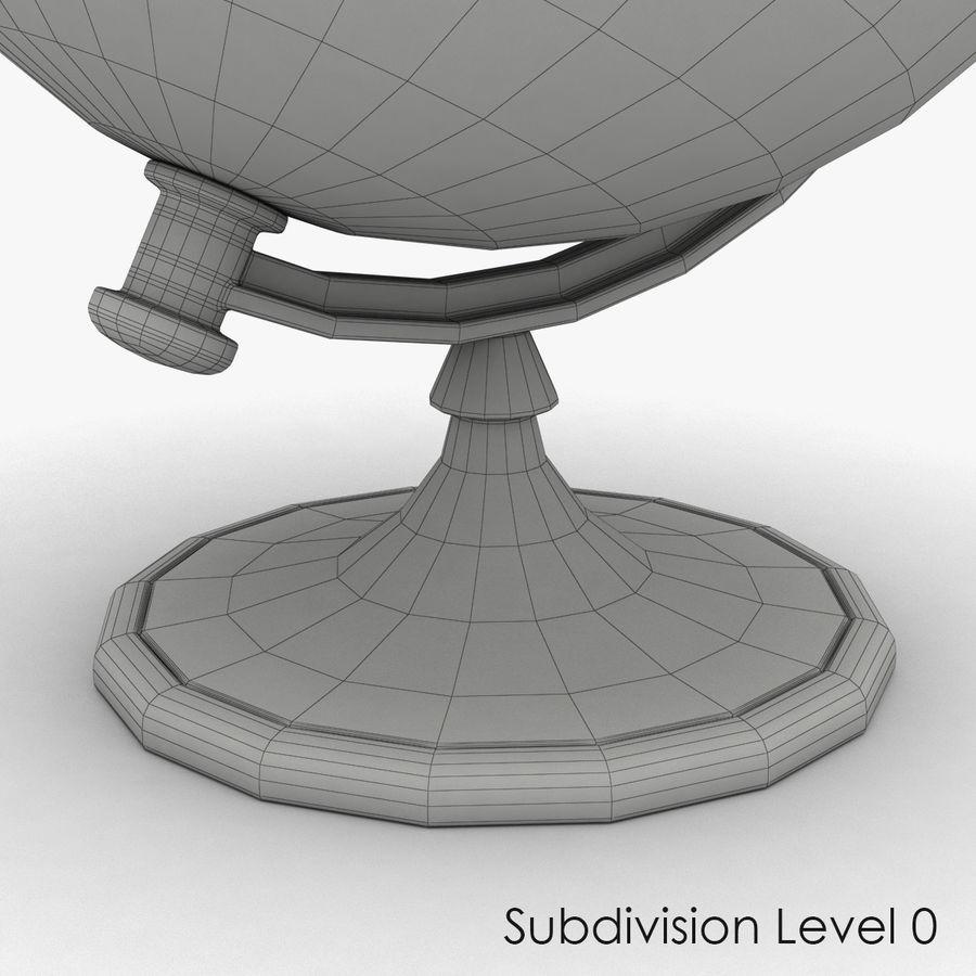 Rotating globe royalty-free 3d model - Preview no. 10